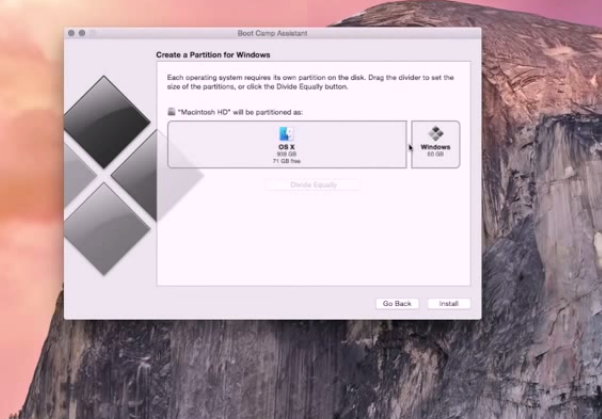 Installing Windows with Bootcamp Mac 3