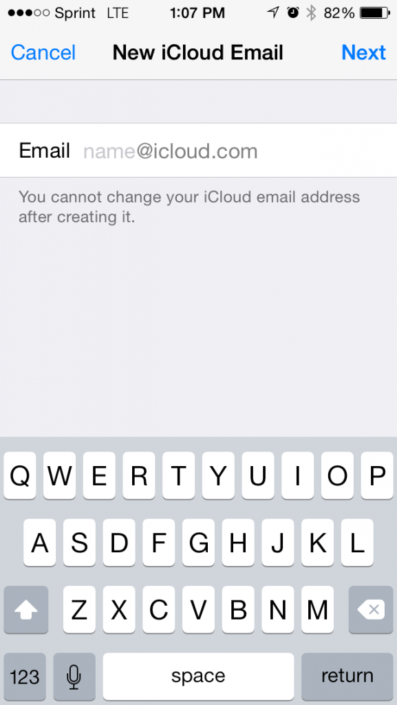 Create Apple ID/ New iCloud email